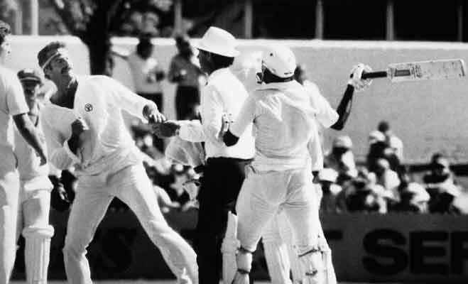 ennis Lillee and Javed Miandad