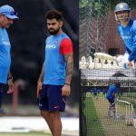 बारिश के बीच इस तरह अभ्यास कर रहे हैं भारतीय खिलाड़ी, धोनी ने भी दिखाया दम