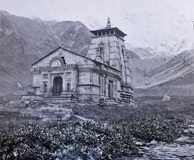 773 (601) neg Kedarnath Temple 1882