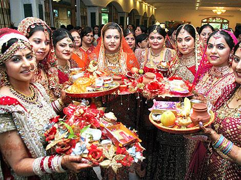 KarwaChauth puja thali