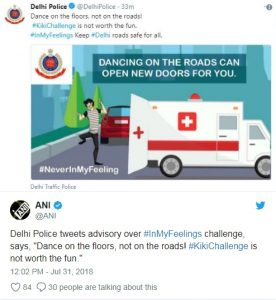 सोशल मीडिया पर वायरल हो रहा 'किकी चैलेंज' ब्लू व्हेल जैसा ही खतरनाक, पुलिस ने जारी किया अलर्ट