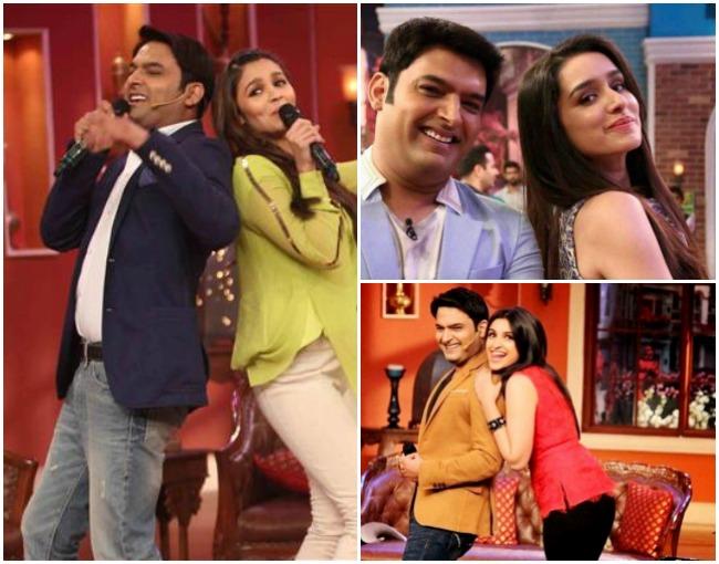 kapil with actress