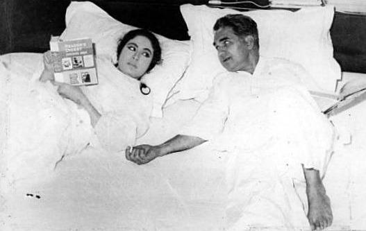 meena kumari with kamal amrohi