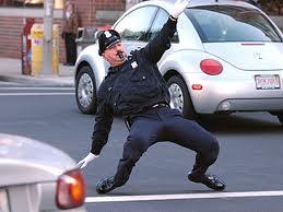 policeman dancing