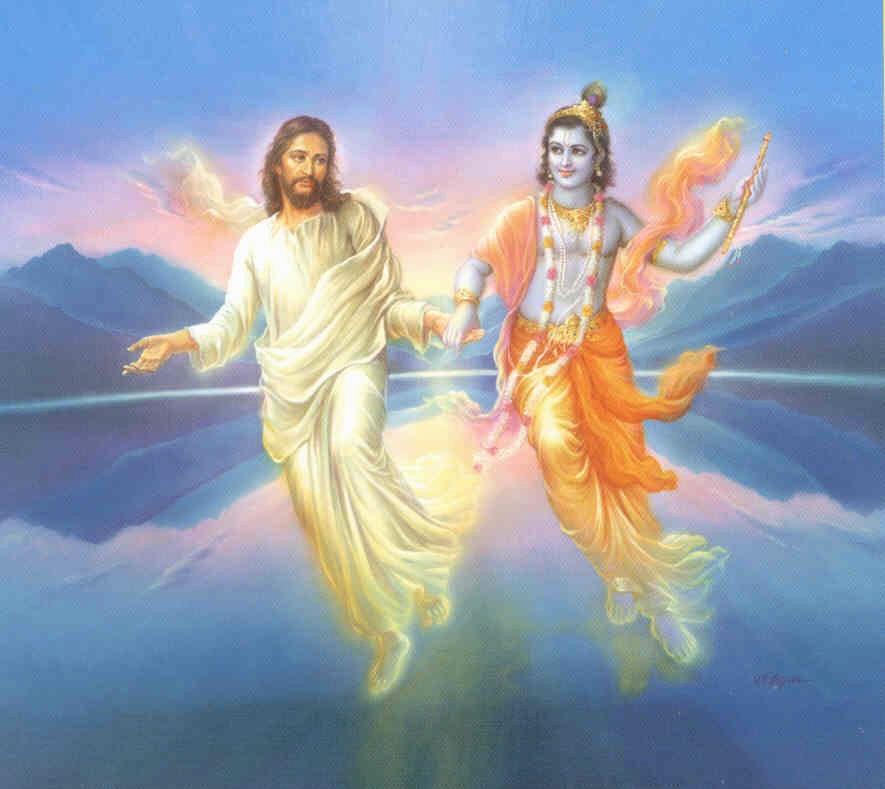Lord Krishna and Jesus Christ