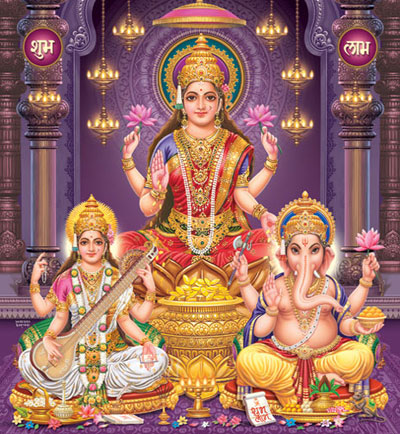 Sri-Lakshmi-Mata-Saraswati-and-Lord-Ganesha