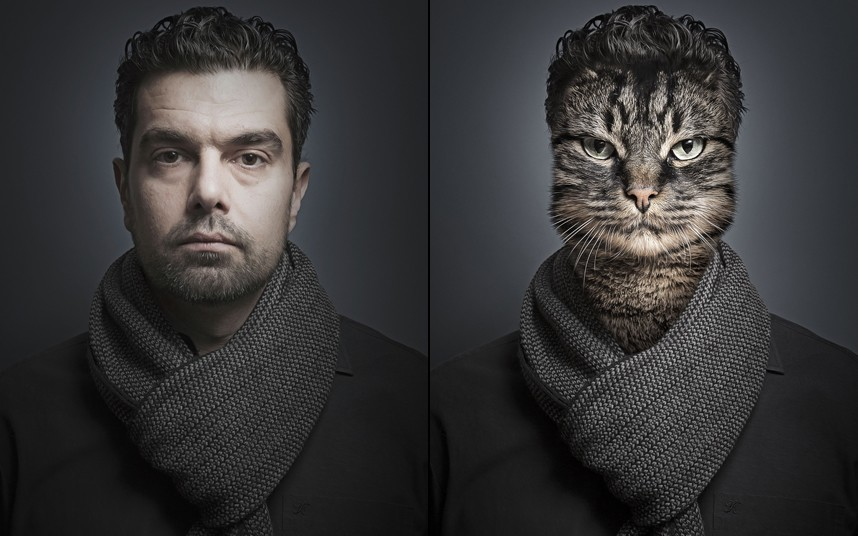 Antonio spliced with cat Chino
