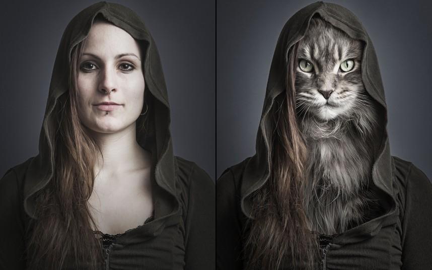Joana spliced with cat Hector