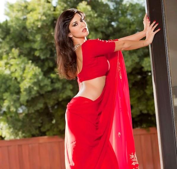 sunny-leone-red-saree-hot-photoshoot-jism