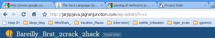 showing Bookmarks bar
