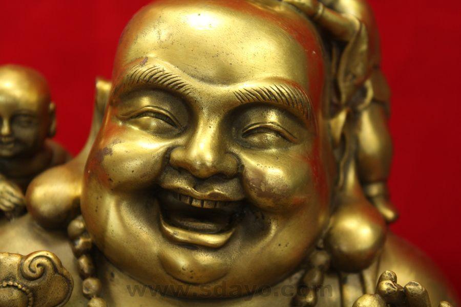 laughing buddha smiling