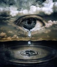 a criying eye