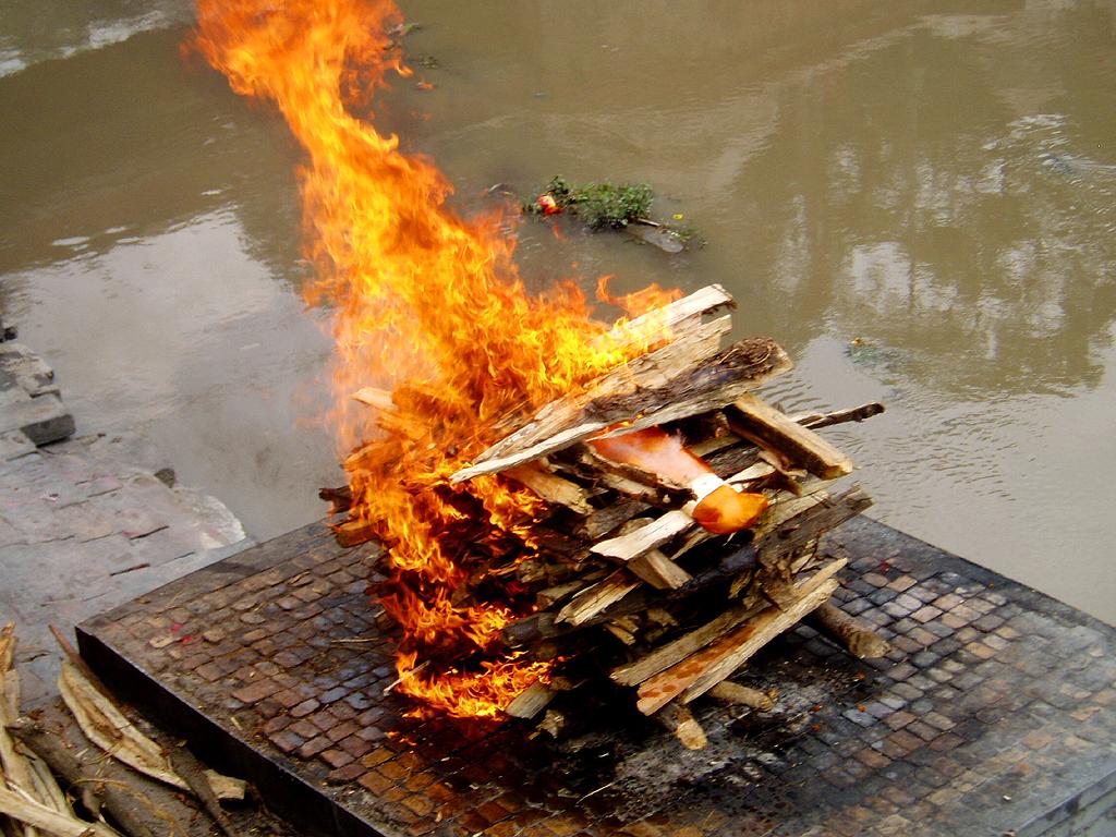 Bagamati_cremation