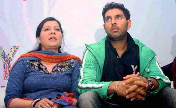 Yuvraj Singh with Mother