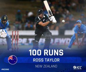 भारत के रनों का पहाड़ रॉस टेलर के सामने हो गया बौना, न्यूजीलैंड ने जीत दर्ज की