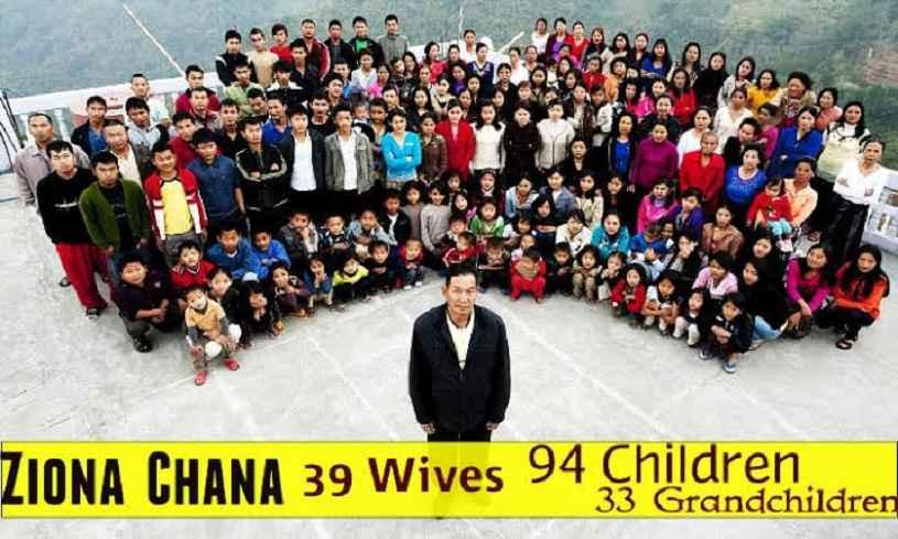 विश्व की सबसे बड़ी फैमिली के मुखिया जिओना चाना नहीं रहे, परिवार में 39 पत्नी 94 बच्चे समेत 181 सदस्य