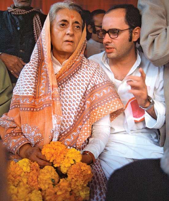 Indira with Sanjay Gandhi