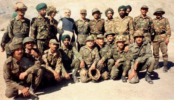 modi with army