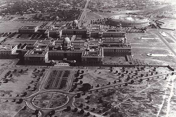 old-india-photos-indian-parliament-aerial-view