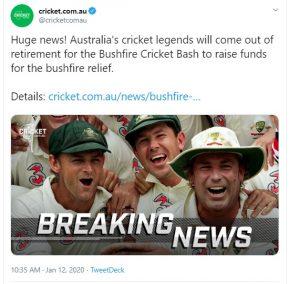 क्रिकेट से सन्यास ले चुके ऑस्ट्रेलिया के 3 लीजेंड वापसी करेंगे, इस वजह से मैच खेलने का ऐलान
