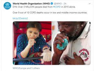 हर रोज 10 में 9 लोगों की मौत फेफड़ों की बीमारी सीओपीडी से, एक साल में 30 लाख लोगों की गई जान