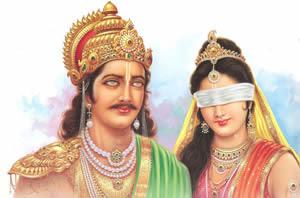 Dhritarasthra-and-Gandhari