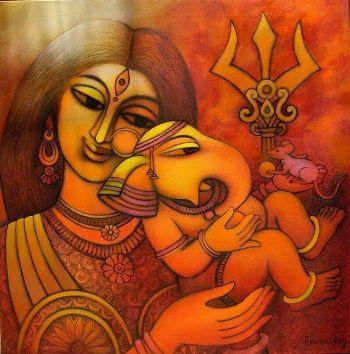 goddess parvati and ganesh