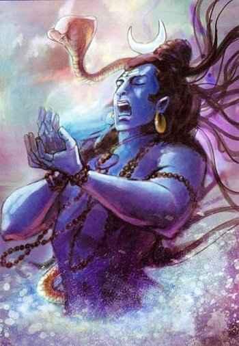 shiv with bhashm