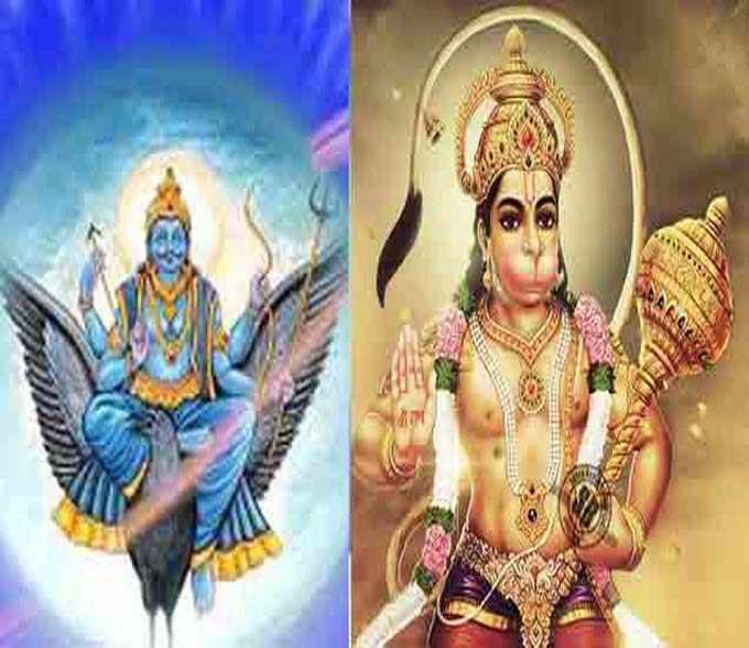 Shani dev and Lord Hanuman