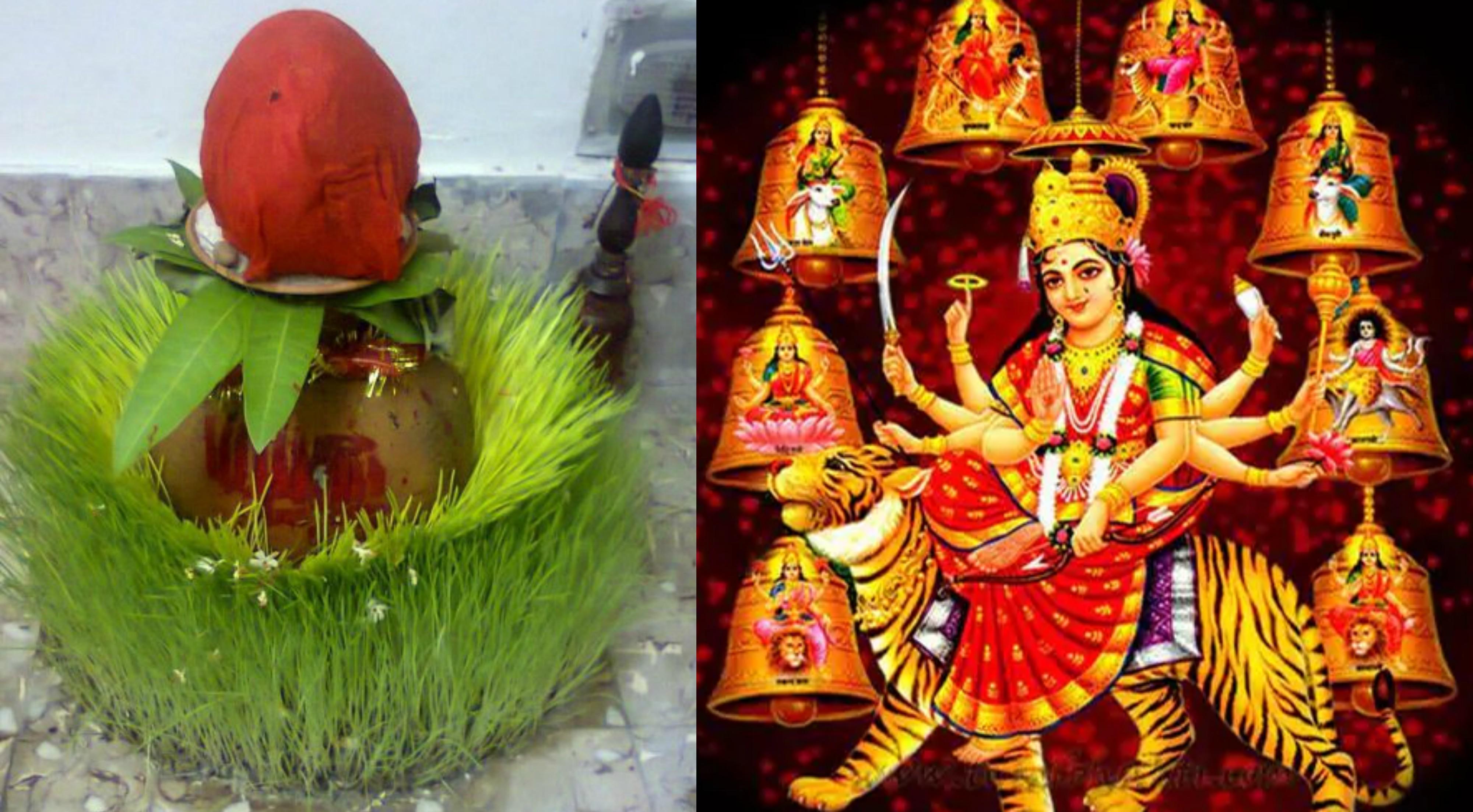 नवरात्रि पर भक्तिमय हुआ माहौल, जानें कलश और जौ का क्या है महत्व