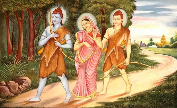 Ram Laxman Sita in jungle