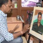 22 साल से शहीदों की यादें संजो रहा ये पेंटर, परिजनों का दुख कम करने के लिए भेजते हैं हाथ से बनी तस्वीरें