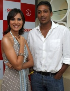 Mahesh Bhupathi and LARA DUTT