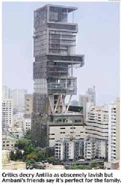 Mukesh Ambani's palatial 570 ft tall residence