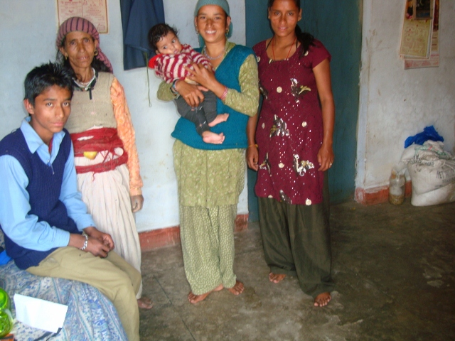 Mamta with her family