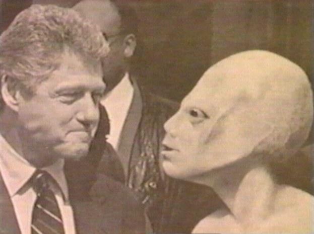 Bill Clinton With Alien