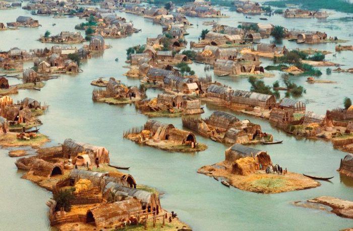 arabsfloating homes of marsh