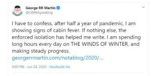 गेम ऑफ थ्रोन्स के फैंस को मिली खुशखबरी, लेखक जॉर्ज आरआर मार्टिन ने नए नॉवेल पर कही ये बात